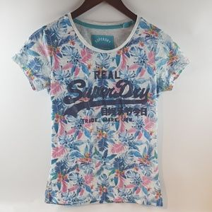 Real superdry flower small shirt